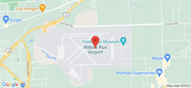 Map of Willow Run Airport