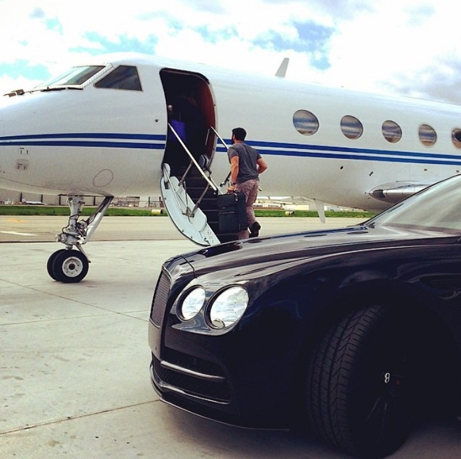 Dan Bilzerian Boards Private Jet