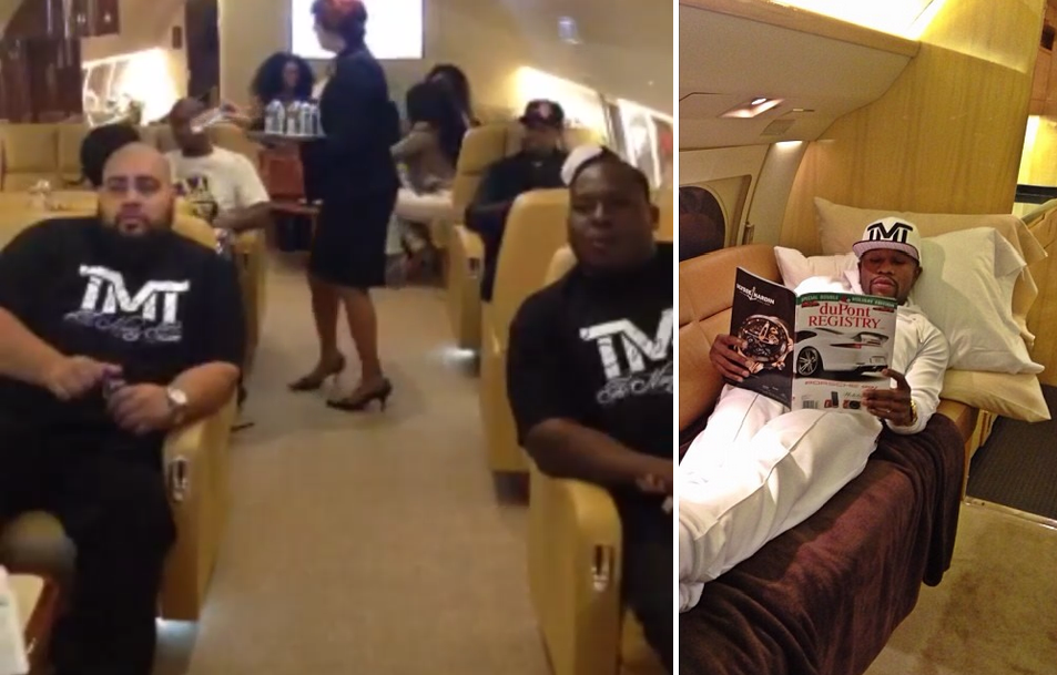 Floyd Mayweather & TMT Private Jet