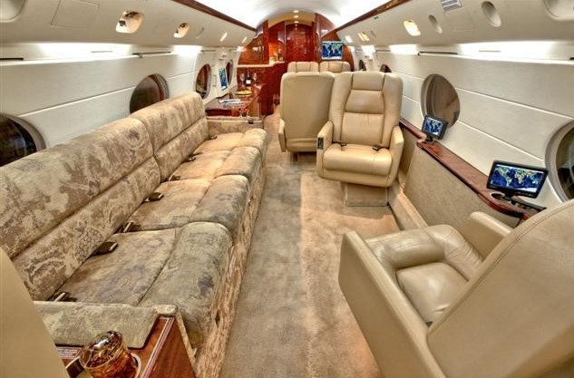 Interior of Dan Bilzerian's G IV
