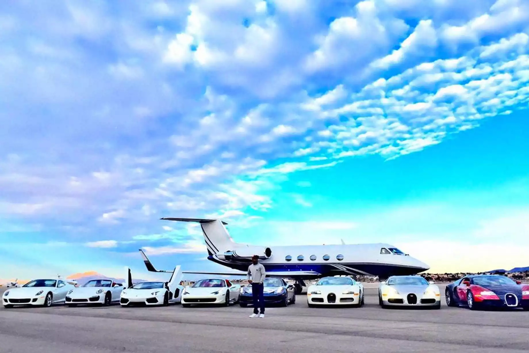 Mayweather Private Jet and Cars