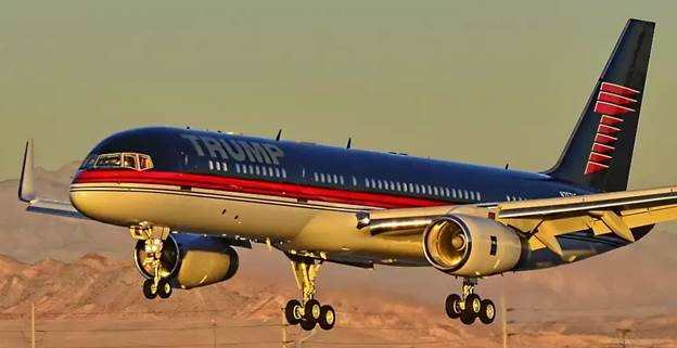 Trump Private Jet - Boeing 757