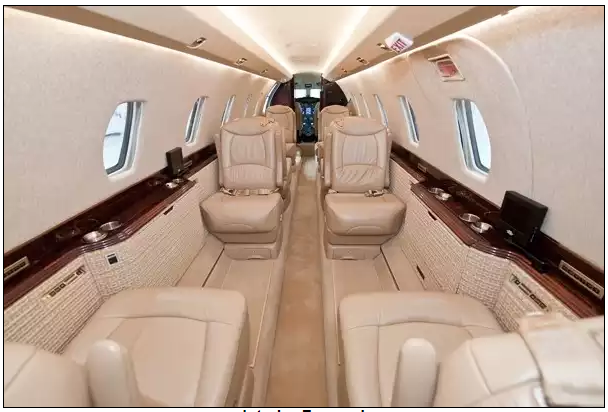 Trump Private Jet Citation X Interior