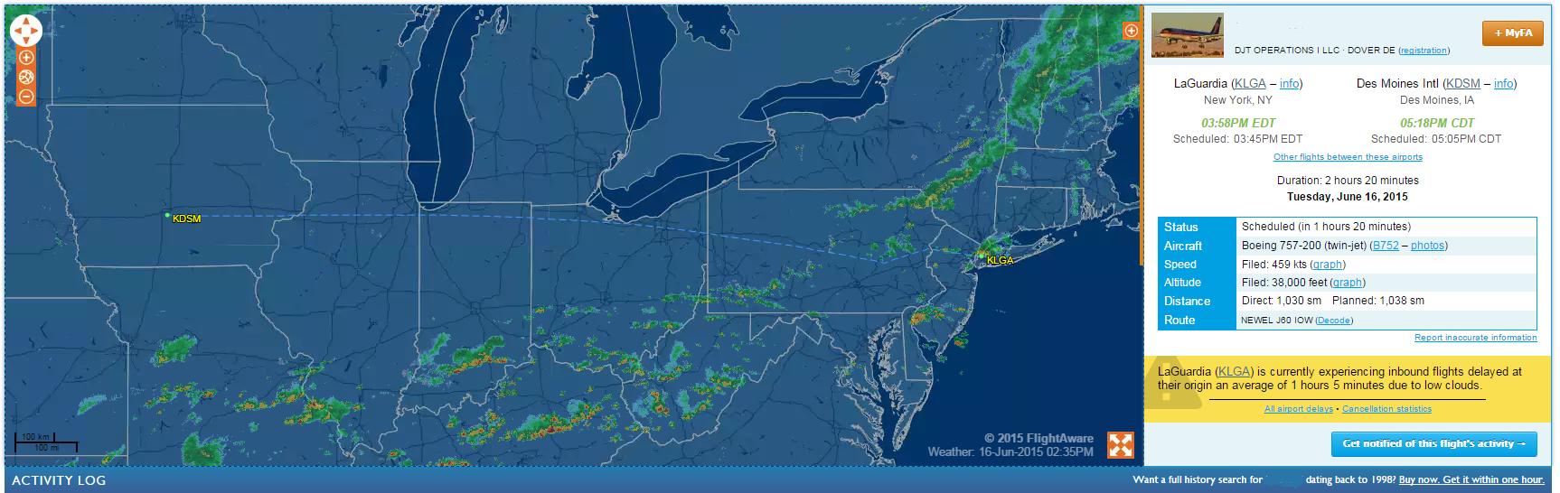 Trump Flight Tracking